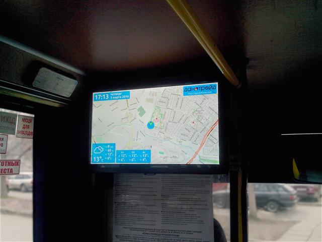 Монитор в автобусе